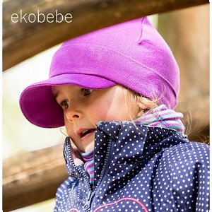 Organic Coton Children Hat - Purple