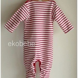 Organic Cotton Striped Overall Newborn